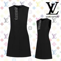 Louis Vuitton Wool Sleeveless Plain Medium Dresses