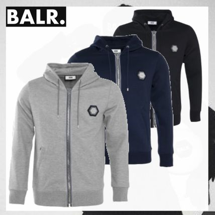 BALR Hoodies Street Style Long Sleeves Plain Hoodies