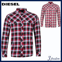 DIESEL Street Style Long Sleeves Cotton Shirts