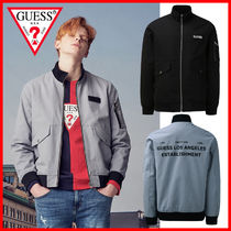Guess Short Plain MA-1 Bomber Jackets