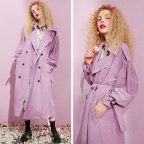 ELF SACK Plain Long Trench Coats