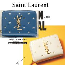 Saint Laurent Star Leather Folding Wallets