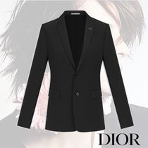 DIOR HOMME Short Wool Plain Other Animal Patterns With Jewels