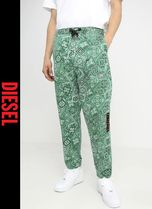 DIESEL Printed Pants Sweat Street Style Patterned Pants