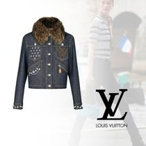 Louis Vuitton Casual Style Denim Studded Chain Jackets