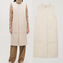 COS Casual Style Wool Long Vest Cardigans