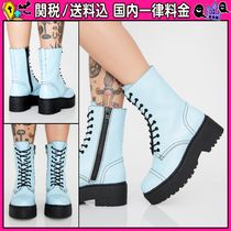 DOLLS KILL Round Toe Casual Style Plain Ankle & Booties Boots