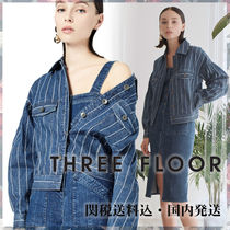 THREE FLOOR Stripes Casual Style Cotton Shirts & Blouses