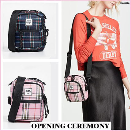 Glen Patterns Casual Style Shoulder Bags