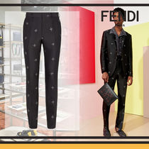 FENDI Tapered Pants Monogram Cotton Tapered Pants