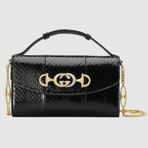 5688b9d92cb GUCCI Blended Fabrics 2WAY Chain Leather Shoulder Bags