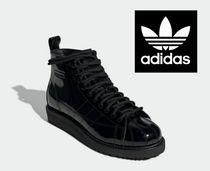 adidas SUPERSTAR Casual Style Enamel Street Style Plain Ankle & Booties Boots