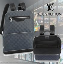 Louis Vuitton Unisex Street Style Leather Backpacks