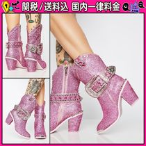 DOLLS KILL Cowboy Boots Casual Style High Heel Boots