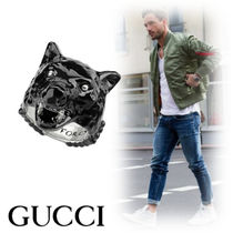 GUCCI Street Style Other Animal Patterns Rings