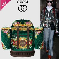 GUCCI Flower Patterns Unisex 3WAY Backpacks