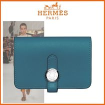 HERMES Dogon Calfskin Blended Fabrics Tassel Plain Home Party Ideas