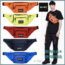 MRC NOIR Unisex Nylon Street Style Plain Hip Packs