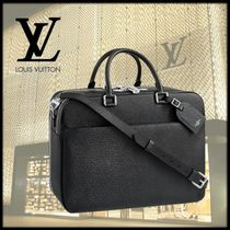 Louis Vuitton TAIGA Unisex Calfskin A4 Plain Business & Briefcases