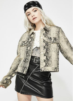 Casual Style Faux Fur Street Style Other Animal Patterns