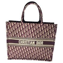 Christian Dior BOOK TOTE Casual Style Unisex Canvas A4 Other Animal Patterns Totes