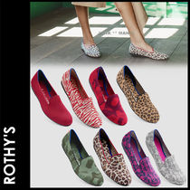 ROTHY'S Camouflage Leopard Patterns Loafer Pumps & Mules