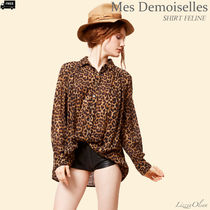 Ron Herman Leopard Patterns Casual Style Long Sleeves Cotton Medium