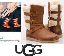 UGG Australia BECKET Round Toe Street Style Plain Leather Ankle & Booties Boots