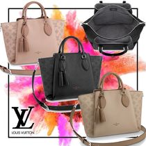 Louis Vuitton MAHINA Monogram Casual Style A4 3WAY Leather Totes