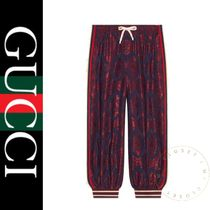 GUCCI Printed Pants Stripes Other Check Patterns Street Style