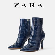 ZARA Other Animal Patterns Leather Pin Heels Office Style