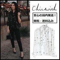 Chicwish Star Long Sleeves Shirts & Blouses