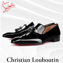 Christian Louboutin Moccasin Tassel Plain Leather Loafers & Slip-ons
