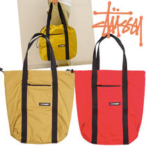 STUSSY Casual Style Unisex Nylon Bag in Bag A4 Plain Totes