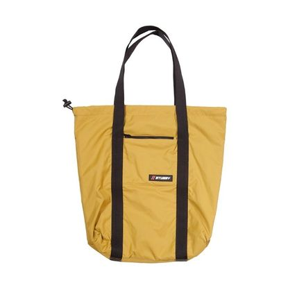 Casual Style Unisex Nylon Bag in Bag A4 Plain Totes