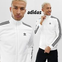 adidas Stripes Street Style Bi-color Track Jackets