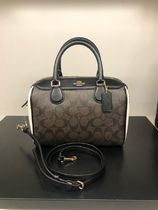 Coach SIGNATURE Casual Style 2WAY PVC Clothing Shoulder Bags
