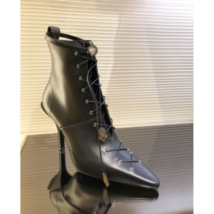 Louis Vuitton Ankle & Booties Blended Fabrics Bi-color Plain Leather Pin Heels