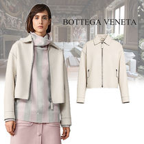 BOTTEGA VENETA Plain Leather Biker Jackets