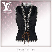 Louis Vuitton Monogram Silk Sleeveless Tanks & Camisoles