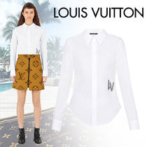Louis Vuitton Blended Fabrics Long Sleeves Plain Cotton Medium With Jewels