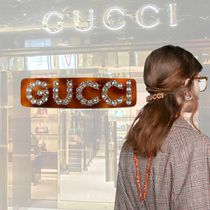 GUCCI Barettes Studded Street Style With Jewels Elegant Style