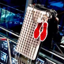 Christian Louboutin Blended Fabrics Bi-color Plain Keychains & Holders