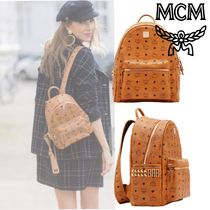 MCM Casual Style Studded Backpacks