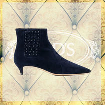 TOD'S Suede Ankle & Booties Boots