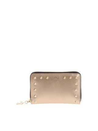 Studded Plain PVC Clothing Long Wallet  Accessories