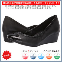 Cole Haan Casual Style Plain Leather Wedge Pumps & Mules