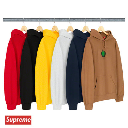 Supreme Hoodies Street Style Cotton Oversized Hoodies