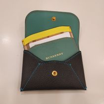 Burberry Mayfield Bi-color Leather Twin Card Holders