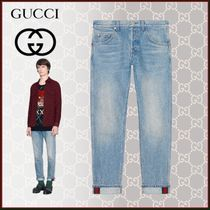 GUCCI Tapered Pants Stripes Unisex Blended Fabrics Street Style